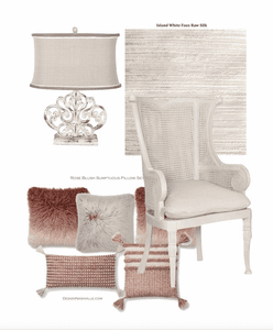 Coastal White and Blush Home Accents