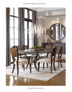 Comfortable Creativity in a Dining Room