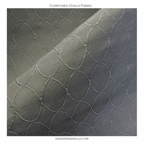 Composed Ovals Fabric, grey