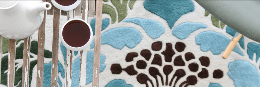Conservatory Floral Rug detail photo