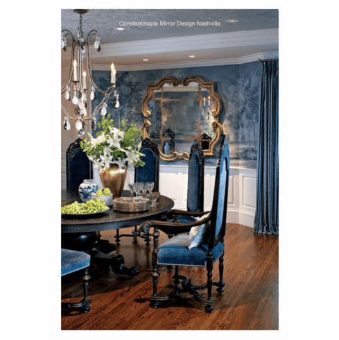 Constantinople Mirror in a teal <br>dining room
