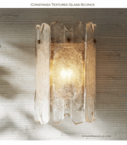 Constanza Textured Glass Sconce pic 1