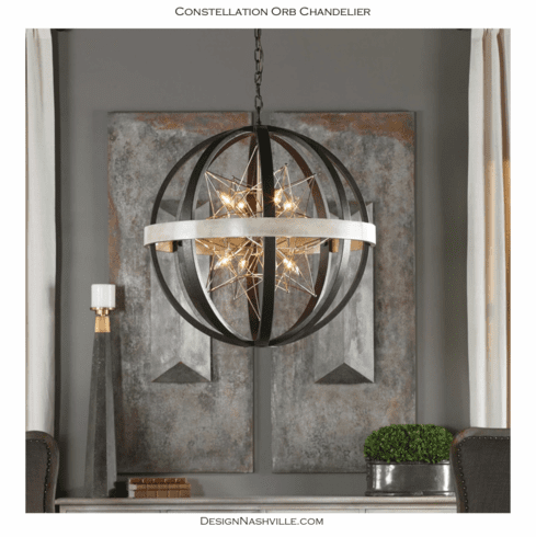 Constellation Orb Chandelier 30""