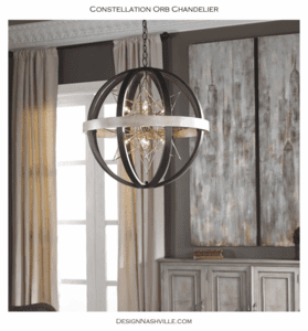Constellation Orb Chandelier in a Room photo