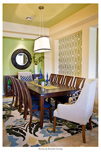 Contemporary Green and Royal Blue