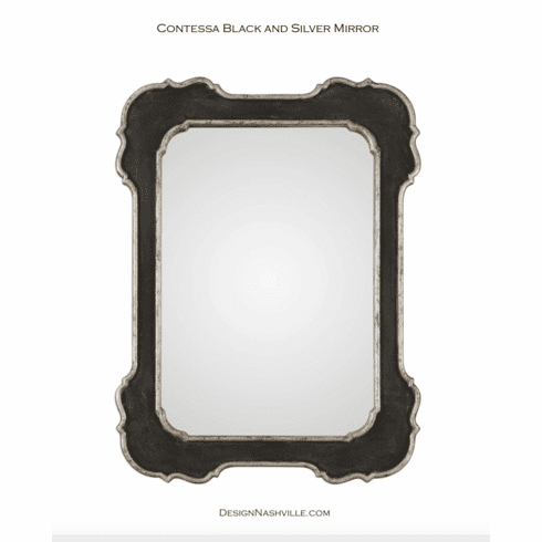Contessa Black and Silver Mirror