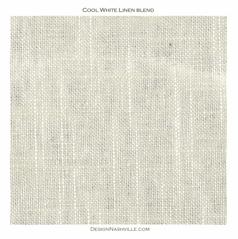Cool White Linen Blend Fabric