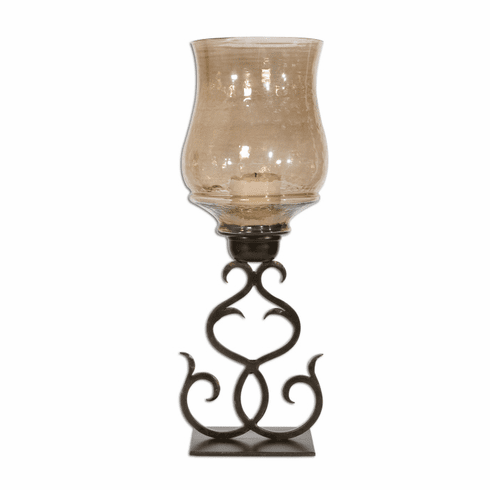 Copper Glass Candleholder