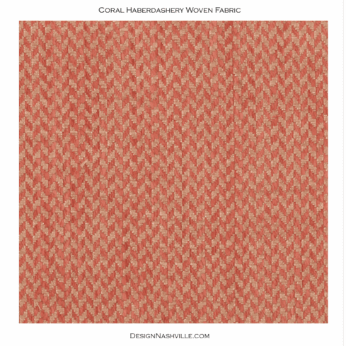 Coral Haberdashery Woven Fabric