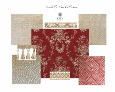 Cordially Yours Bedding and Drapery Collection