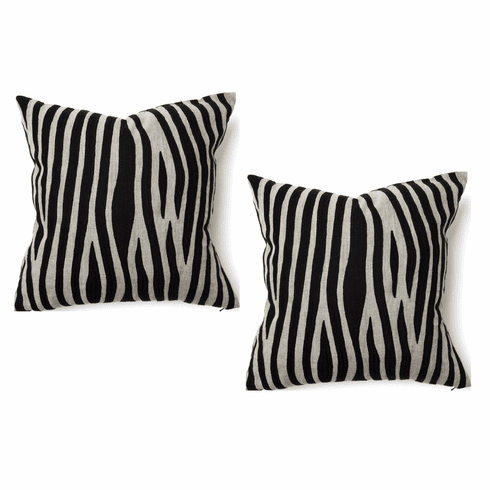 Cosmo Zebra Embroidered Pillow set of 4