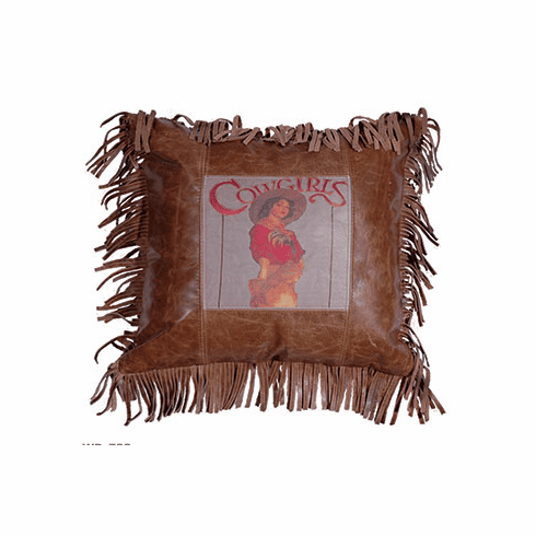 Cowgirl Hottie Leather Pillow