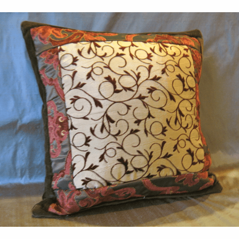 Crimson Swirl Pillow Shams set of 2