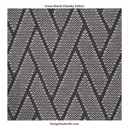 Cross Hatch Chunky Fabric, navy