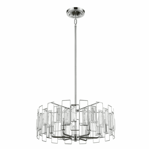 Crystal Spectrum 5 light Chandelier