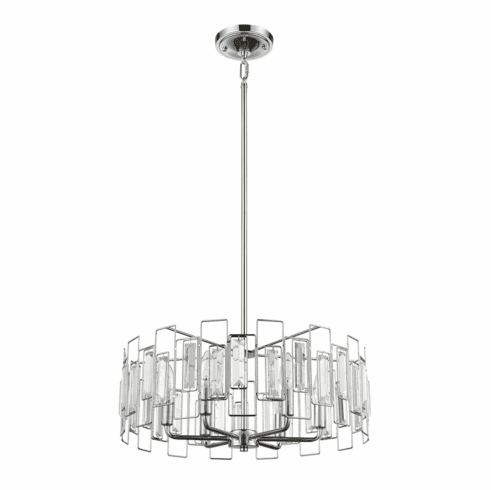 Crystal Spectrum Chandelier 6 light