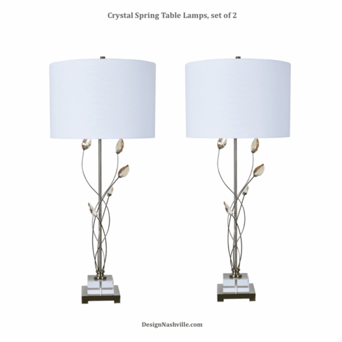 Crystal Spring Table Lamps, set of 2