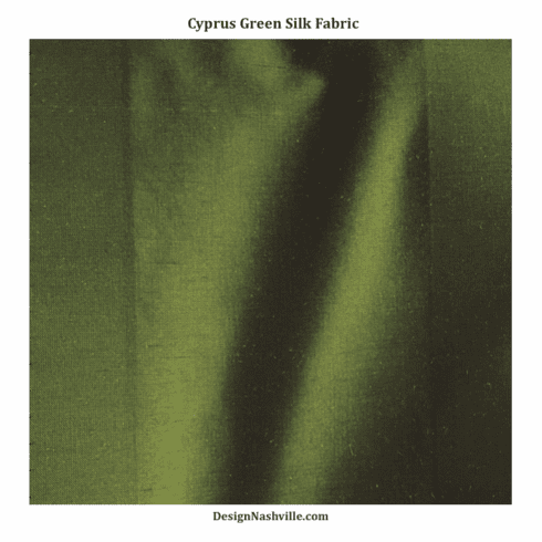 Cyprus Green Silk Fabric