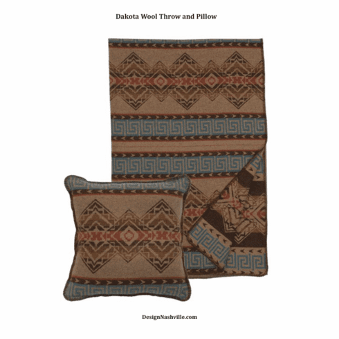 Dakota Wool Blend Throw and Pillow Set