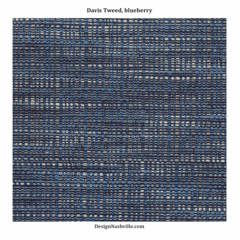 Davis Tweed Fabric, blueberry