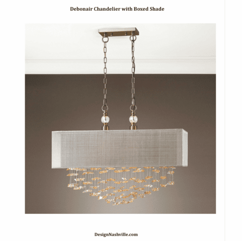 Debonair Chandelier with Boxed Shade