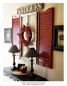 Decorating with Antique Red