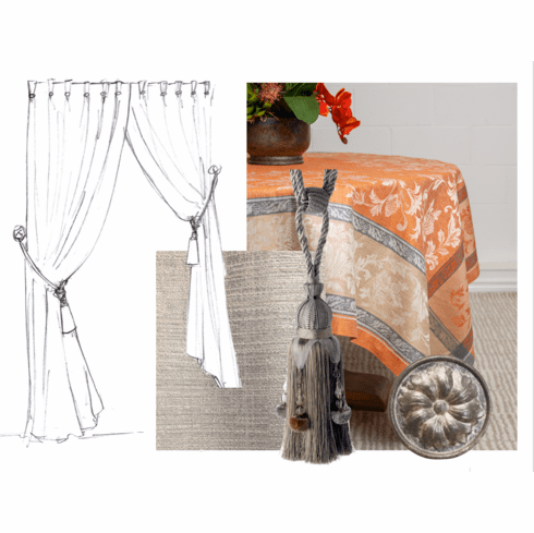 Decorating with Orange and Grey