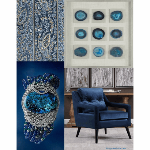Decorating with Rich Blue