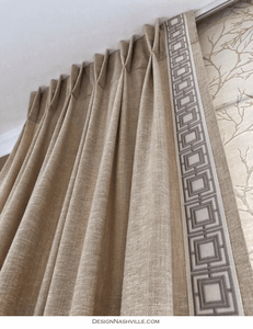 Decorative Borders for Pleated <br>Draperies
