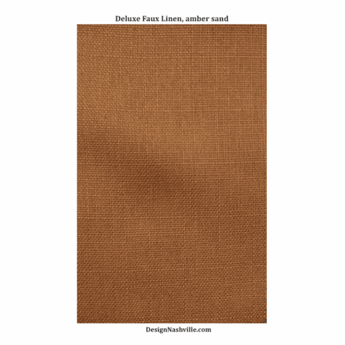 Deluxe Faux Linen, amber sand