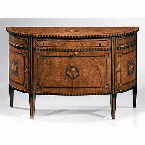 Demilune Cabinet 18th century with inlays