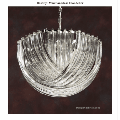 Destiny I Venetian Glass Chandelier