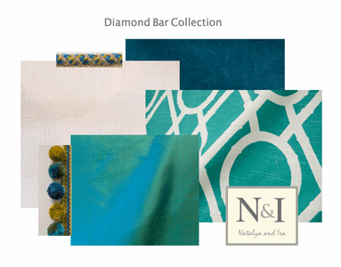 Diamond Bar Bedding and Drapery Collection