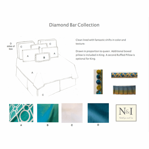 Diamond Bar Bedding Ensemble