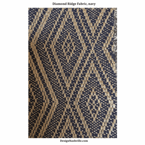 Diamond Ridge Fabric, navy