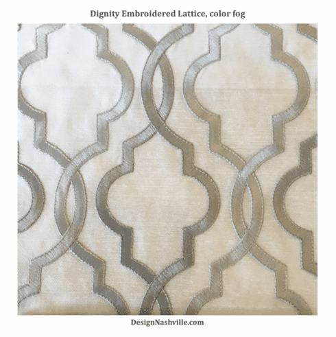 Dignity Embroidered Fabric, color fog
