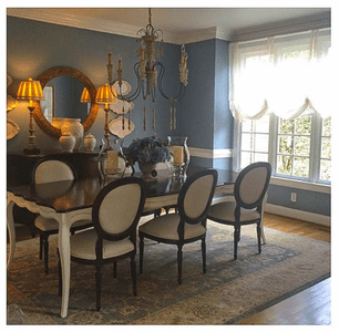 Dining Room with Whitecroft Manor Chandelier