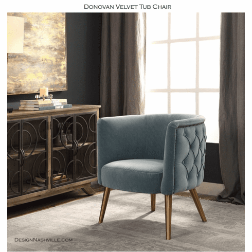 Donovan Velvet Tub Chair
