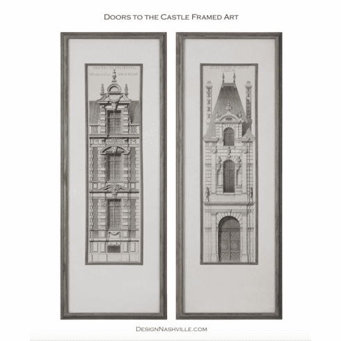 Doors to the Castle Framed Art, set of 2