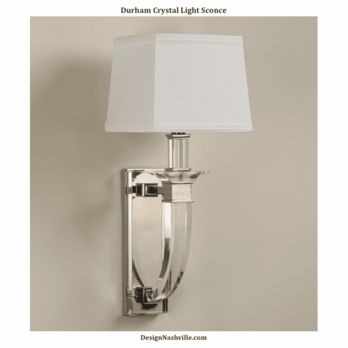 Durham Crystal Light Sconce