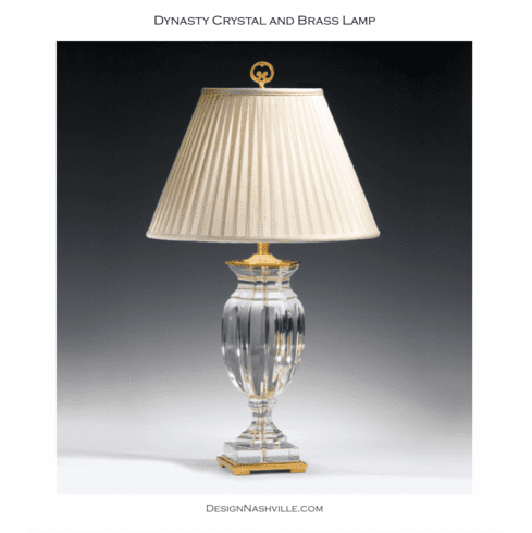 Dynasty Crystal and Brass Lamp