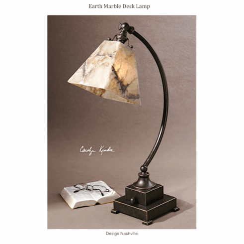Earth Marble Desk Lamp
