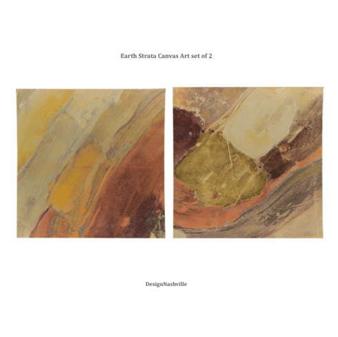 Earth Strata Art, set of 2