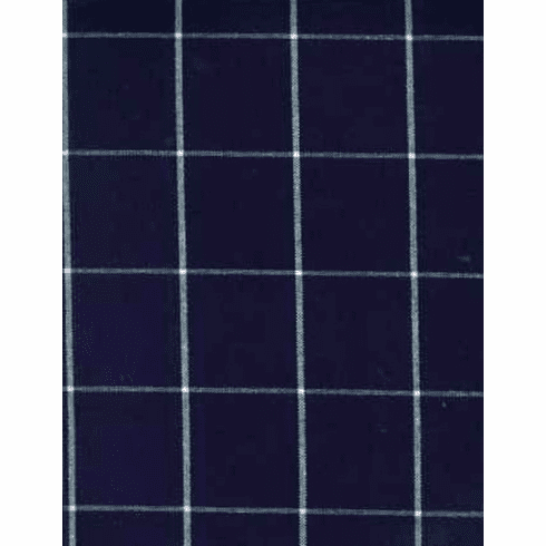 Eastern Shore Indigo Plaid Fabric