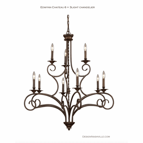 Edwynn Chateau 6-3 light Chandelier