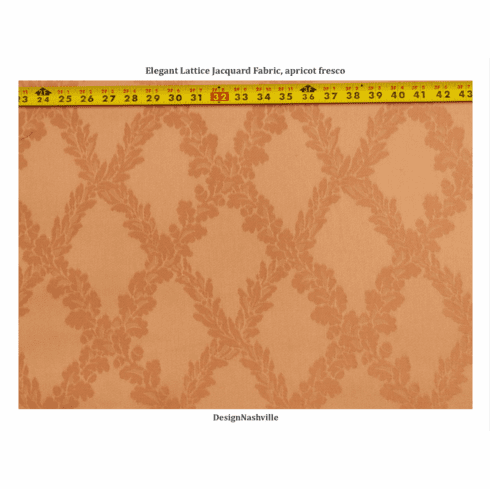 Elegant Lattice Jacquard Fabric,<br> apricot fresco