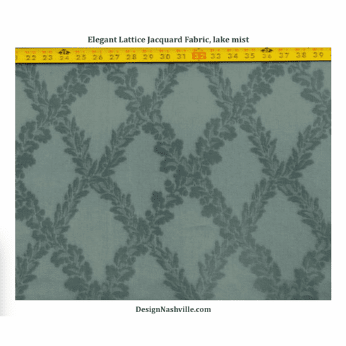 Elegant Lattice Jacquard Fabric, lake mist