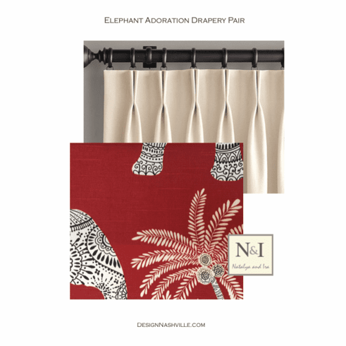Elephant Adoration Drapery Pair