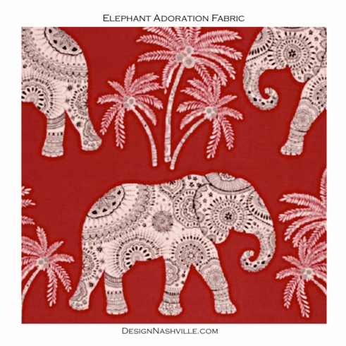 Elephant Adoration Printed Cotton Fabric