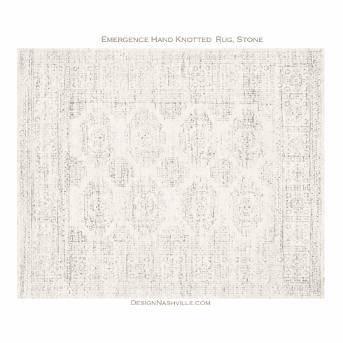 Emergence Hand Knotted Rug, stone